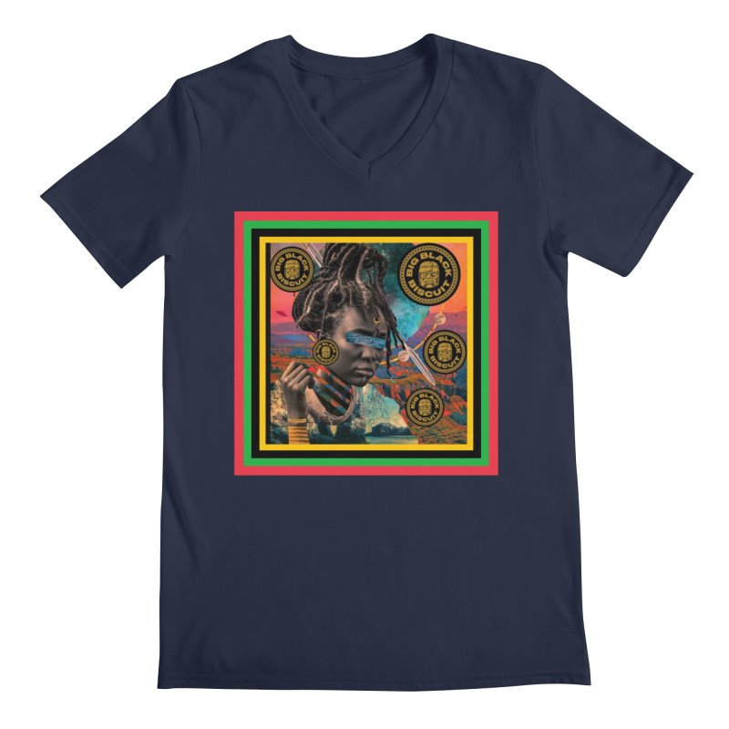 Rasta Queen Men's V-Neck by BigBlackBiscuit's Artist Shop