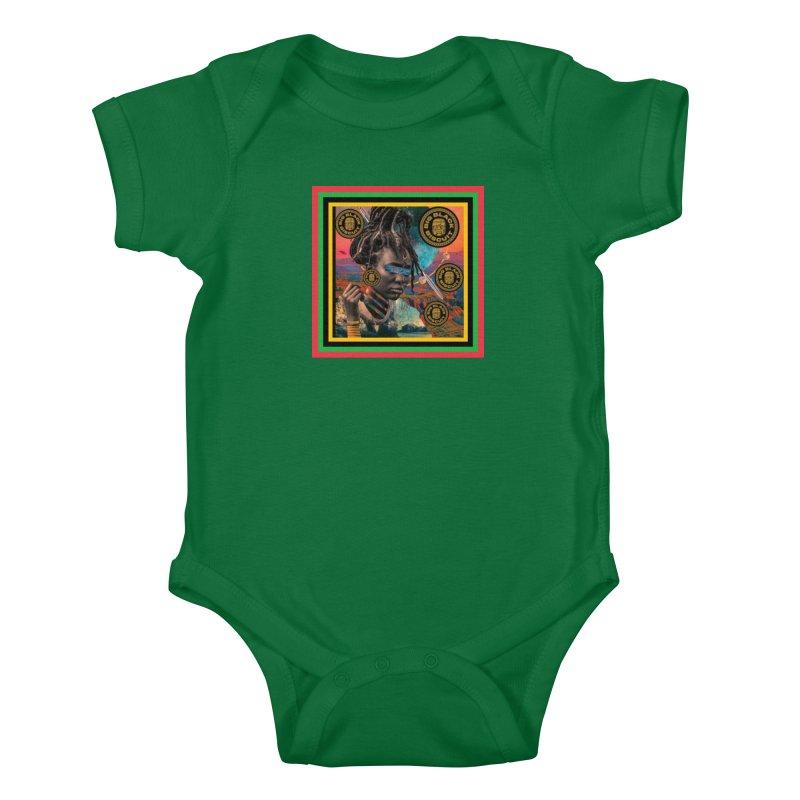 Rasta Queen Kids Baby Bodysuit by BigBlackBiscuit's Artist Shop