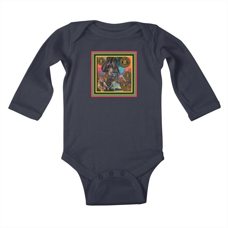 Rasta Queen Kids Baby Longsleeve Bodysuit by BigBlackBiscuit's Artist Shop