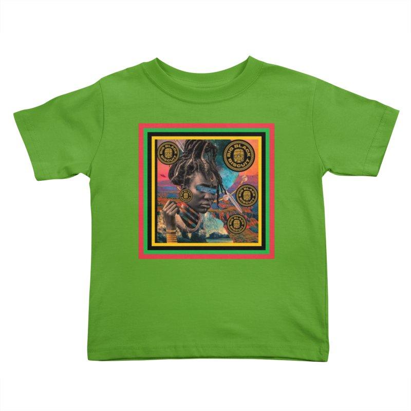 Rasta Queen Kids Toddler T-Shirt by BigBlackBiscuit's Artist Shop