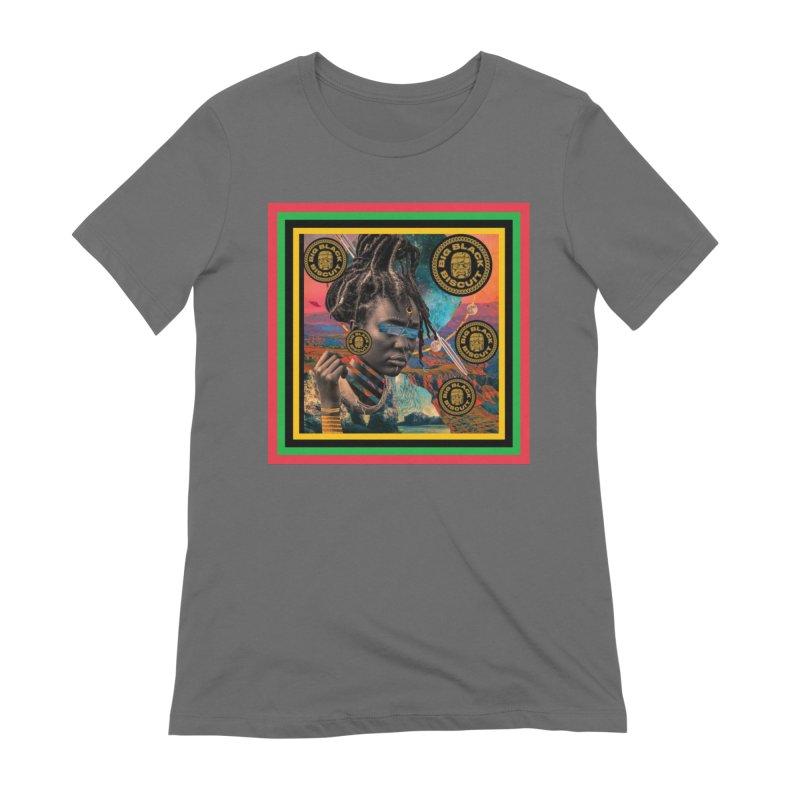 Rasta Queen Women's T-Shirt by BigBlackBiscuit's Artist Shop