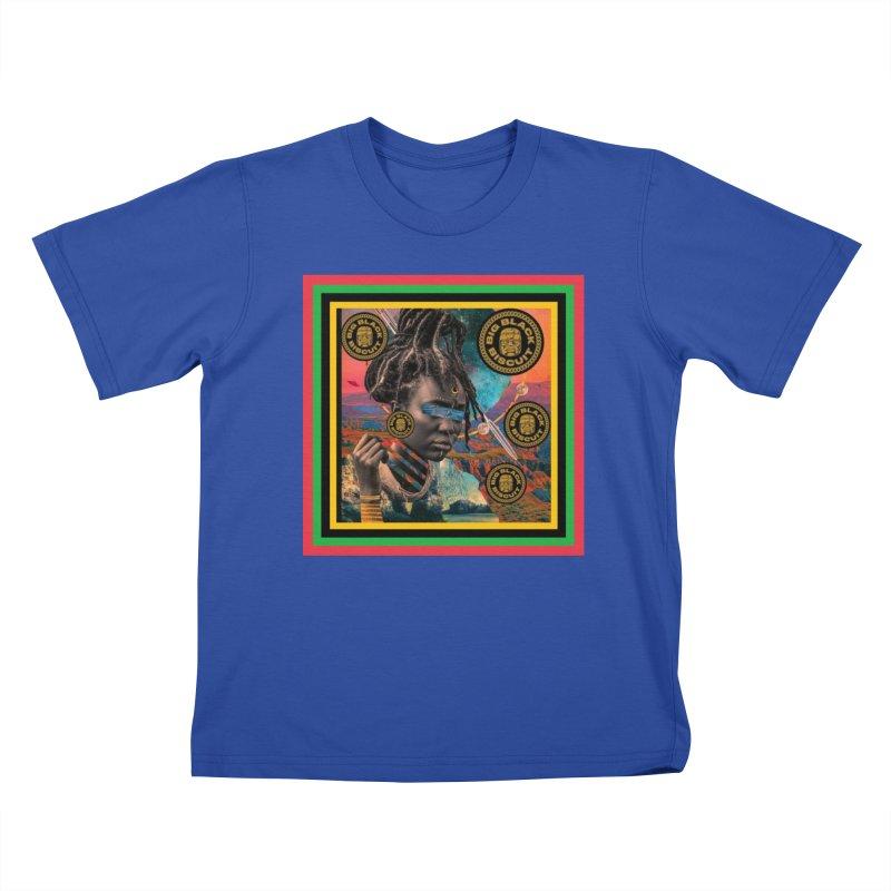 Rasta Queen Kids T-Shirt by BigBlackBiscuit's Artist Shop
