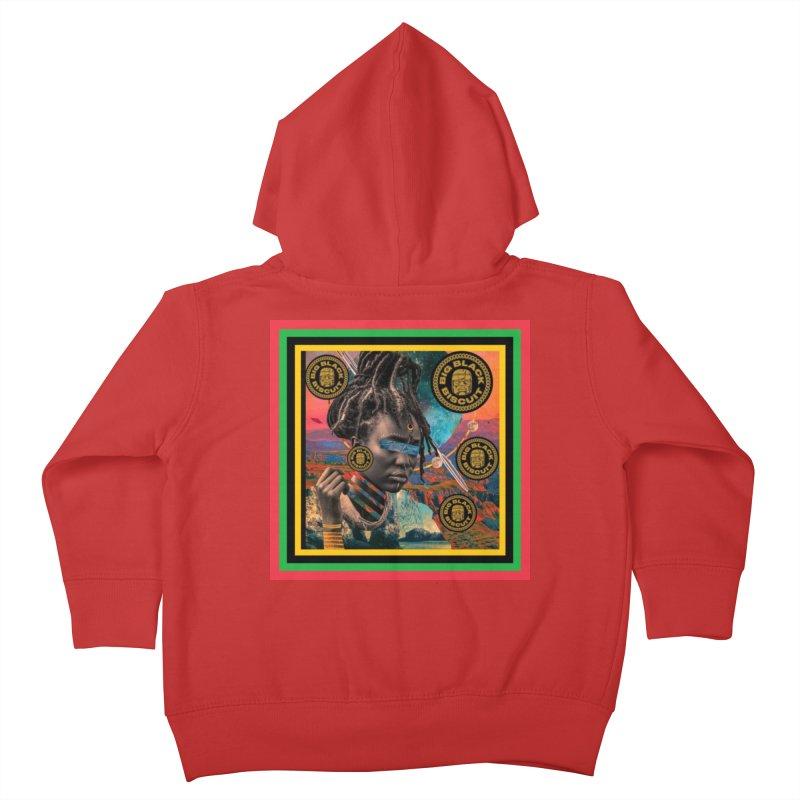 Rasta Queen Kids Toddler Zip-Up Hoody by BigBlackBiscuit's Artist Shop