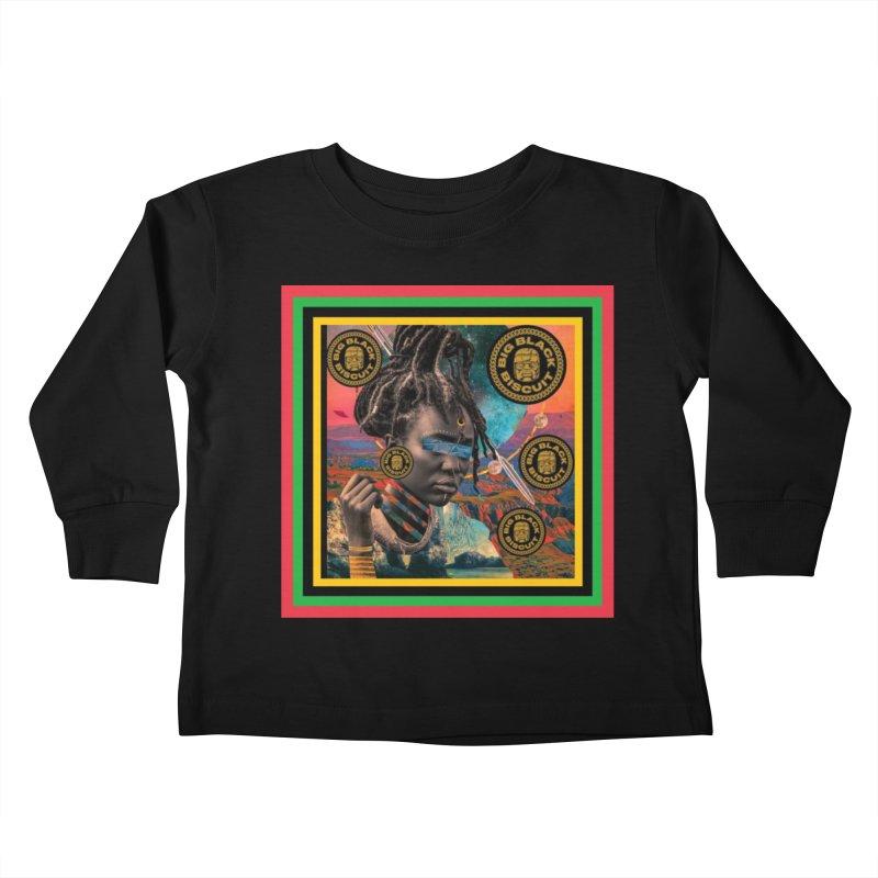 Rasta Queen Kids Toddler Longsleeve T-Shirt by BigBlackBiscuit's Artist Shop
