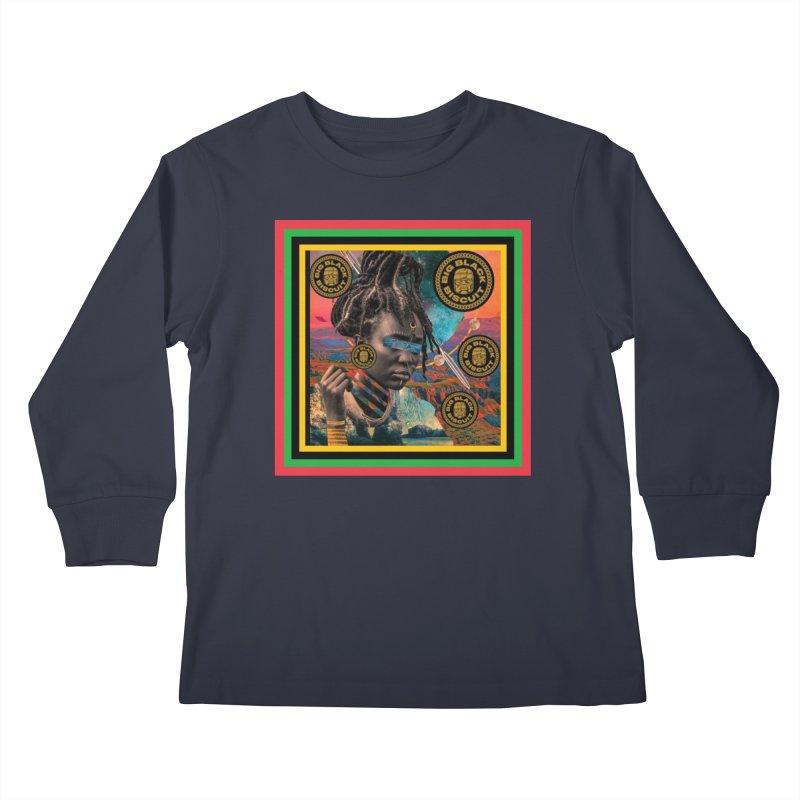 Rasta Queen Kids Longsleeve T-Shirt by BigBlackBiscuit's Artist Shop