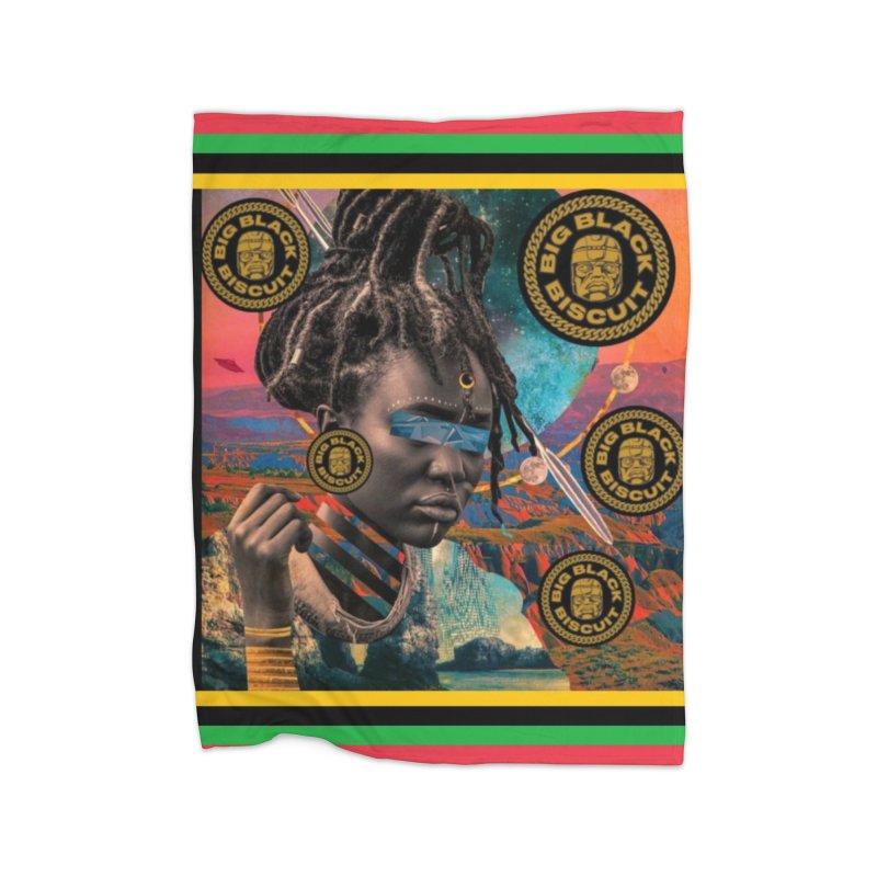 Rasta Queen Home Blanket by BigBlackBiscuit's Artist Shop