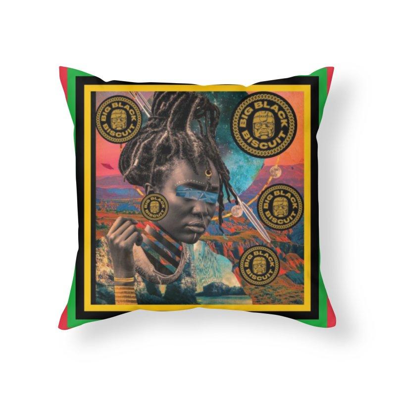Rasta Queen Home Throw Pillow by BigBlackBiscuit's Artist Shop
