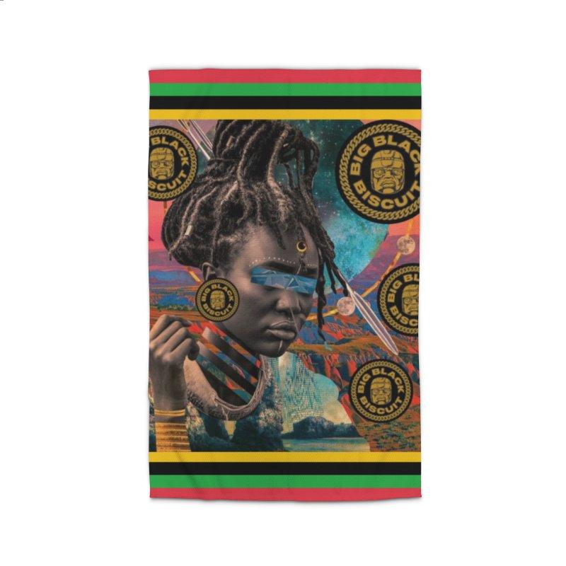 Rasta Queen Home Rug by BigBlackBiscuit's Artist Shop
