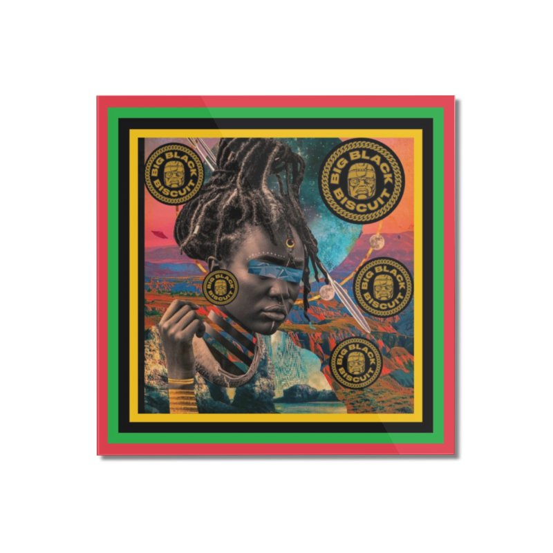 Rasta Queen Home Mounted Acrylic Print by BigBlackBiscuit's Artist Shop