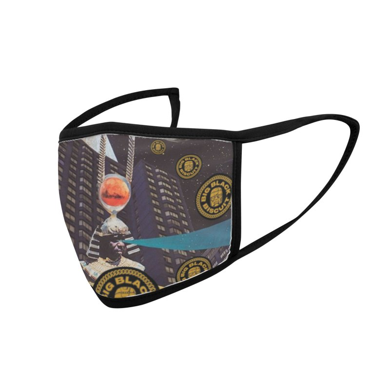 Moonbeam UFO Accessories Face Mask by BigBlackBiscuit's Artist Shop