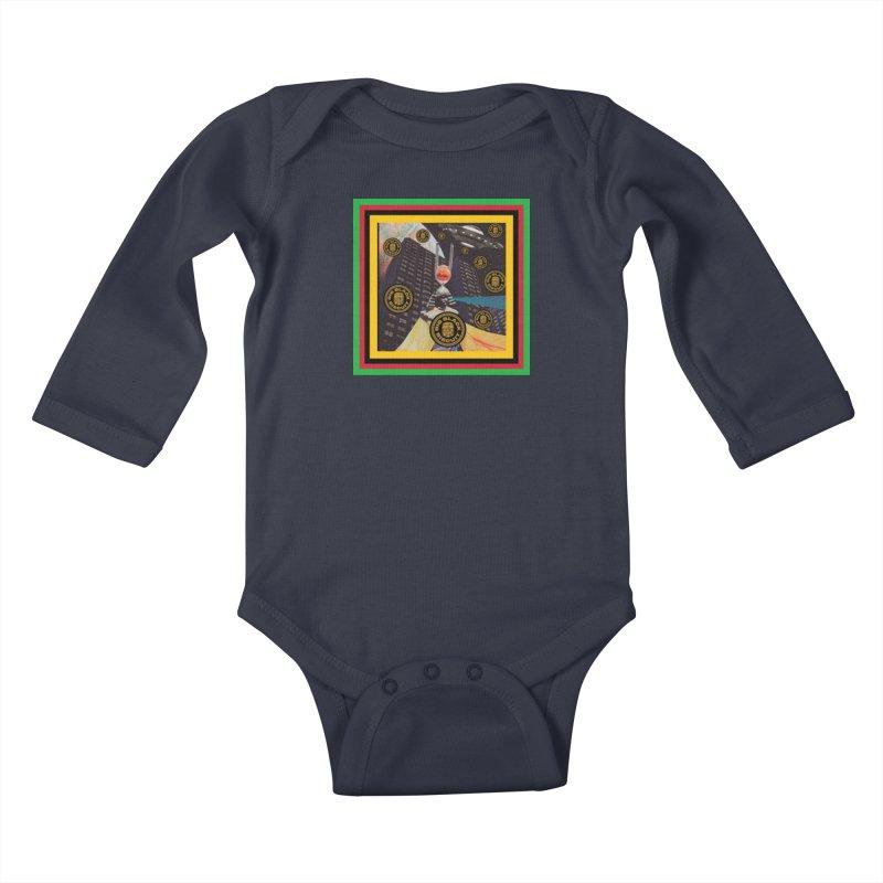 Moonbeam UFO Kids Baby Longsleeve Bodysuit by BigBlackBiscuit's Artist Shop