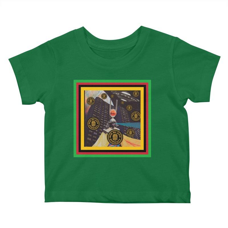 Moonbeam UFO Kids Baby T-Shirt by BigBlackBiscuit's Artist Shop