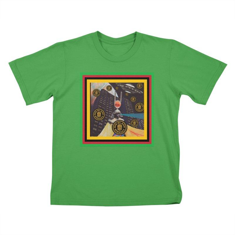 Moonbeam UFO Kids T-Shirt by BigBlackBiscuit's Artist Shop