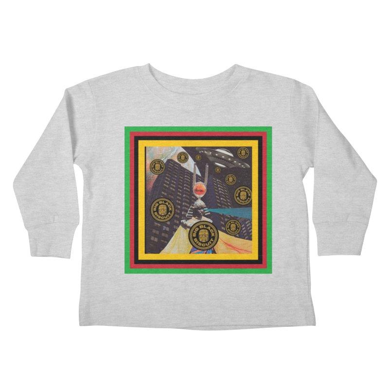 Moonbeam UFO Kids Toddler Longsleeve T-Shirt by BigBlackBiscuit's Artist Shop