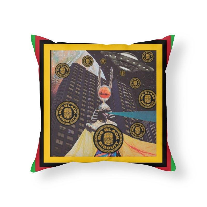 Moonbeam UFO Home Throw Pillow by BigBlackBiscuit's Artist Shop