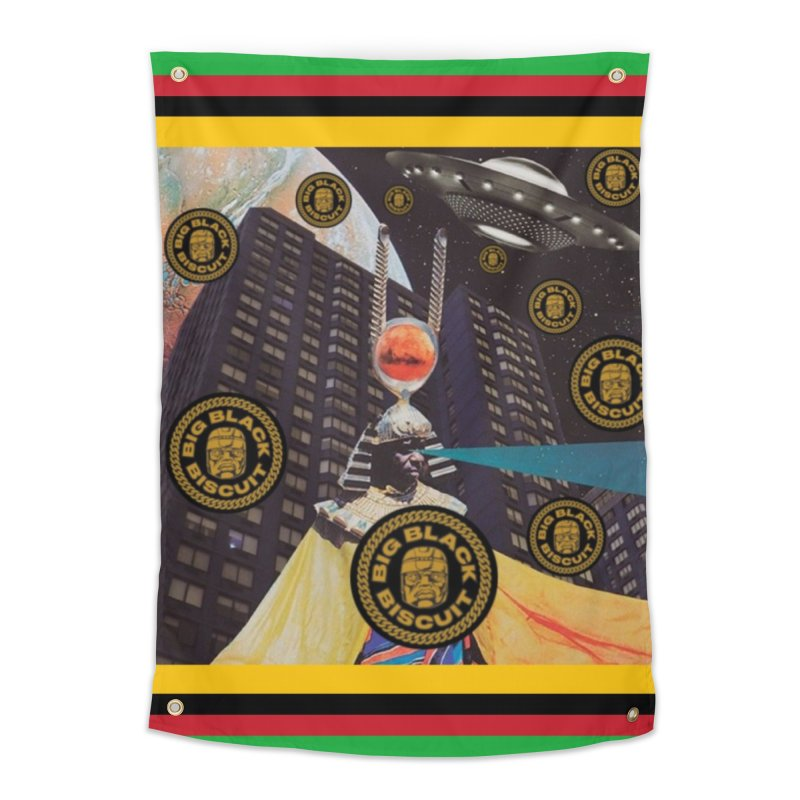 Moonbeam UFO Home Tapestry by BigBlackBiscuit's Artist Shop