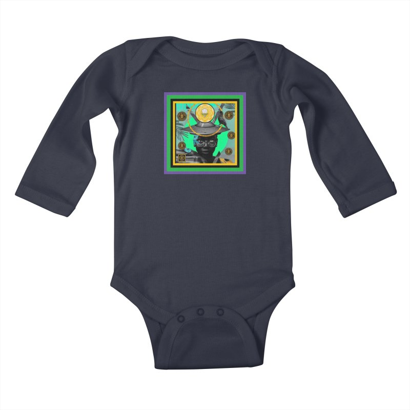 Subconsciously Reflecting Kids Baby Longsleeve Bodysuit by BigBlackBiscuit's Artist Shop