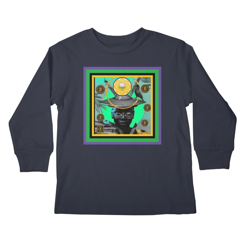 Subconsciously Reflecting Kids Longsleeve T-Shirt by BigBlackBiscuit's Artist Shop
