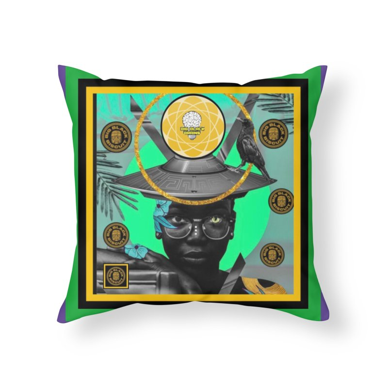 Subconsciously Reflecting Home Throw Pillow by BigBlackBiscuit's Artist Shop