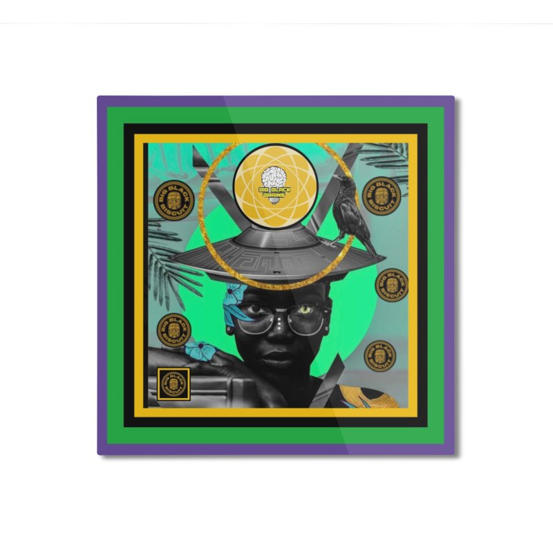 Subconsciously Reflecting Home Mounted Aluminum Print by BigBlackBiscuit's Artist Shop