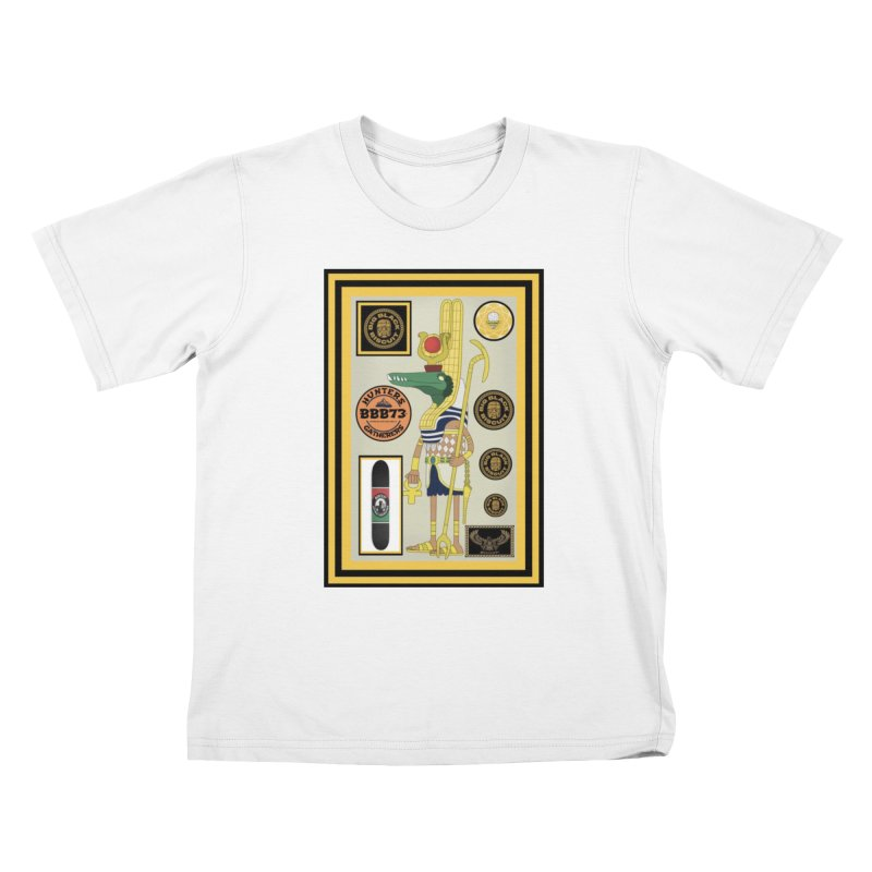 Sobek skate Symbiosis Kids T-Shirt by BigBlackBiscuit's Artist Shop