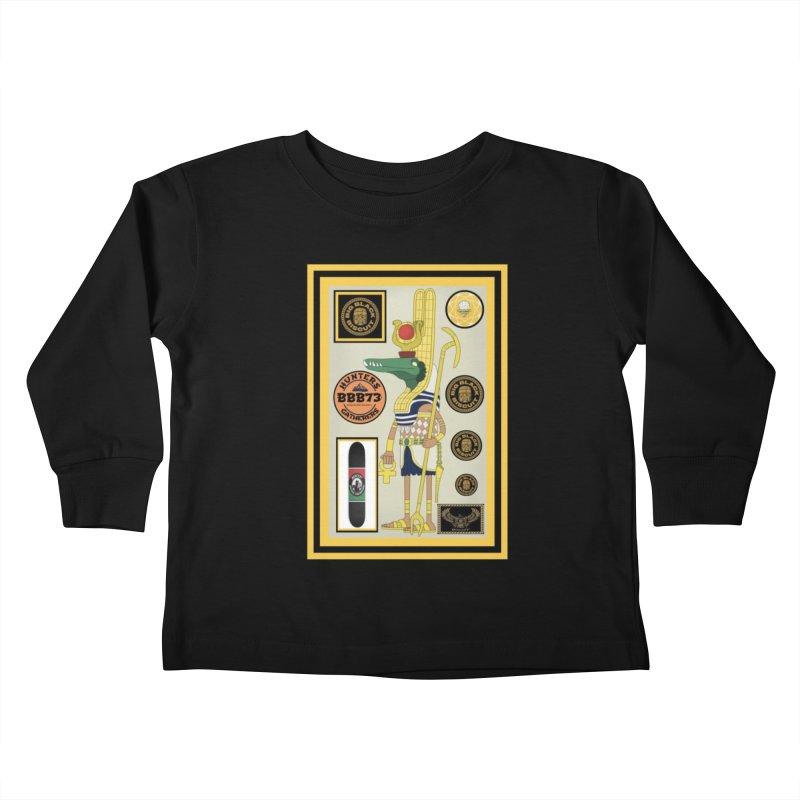 Sobek skate Symbiosis Kids Toddler Longsleeve T-Shirt by BigBlackBiscuit's Artist Shop