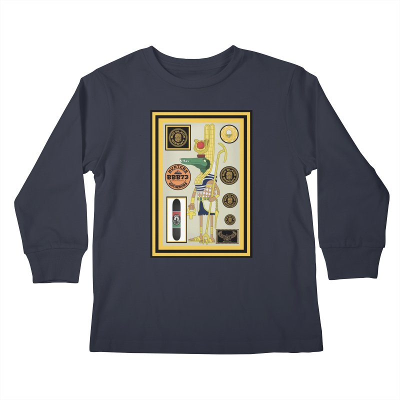Sobek skate Symbiosis Kids Longsleeve T-Shirt by BigBlackBiscuit's Artist Shop