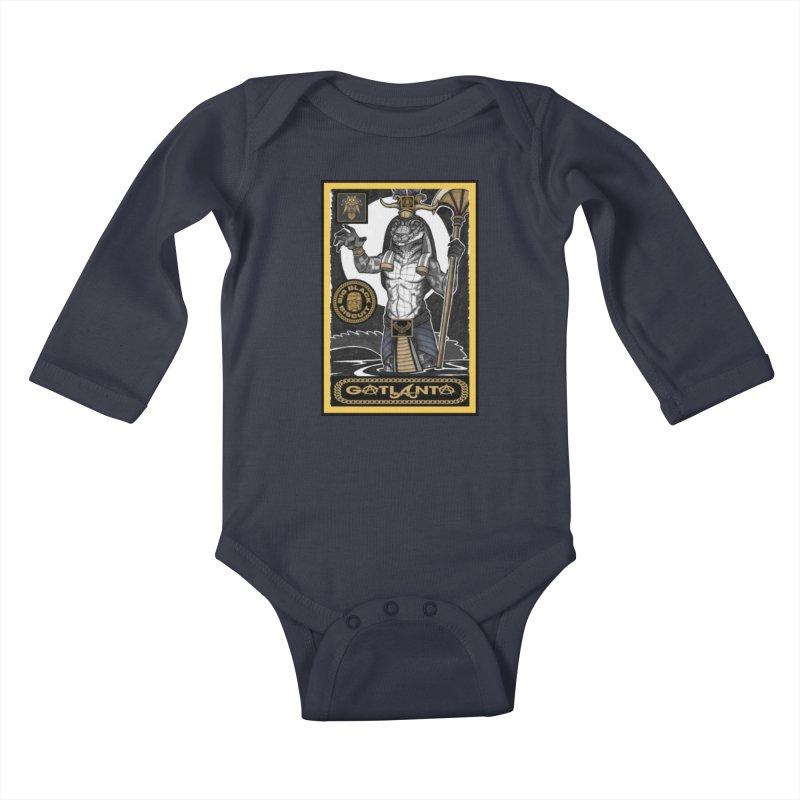 Slickback EL Kids Baby Longsleeve Bodysuit by BigBlackBiscuit's Artist Shop