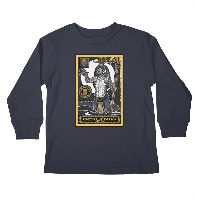 Slickback EL Kids Longsleeve T-Shirt by BigBlackBiscuit's Artist Shop
