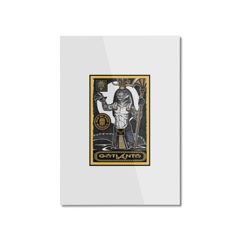 Slickback EL Home Mounted Aluminum Print by BigBlackBiscuit's Artist Shop