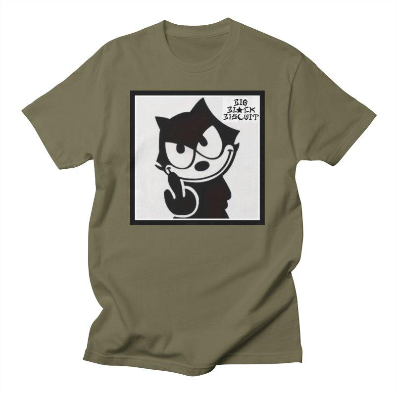 Roguish  Feline Men's T-Shirt by BigBlackBiscuit's Artist Shop