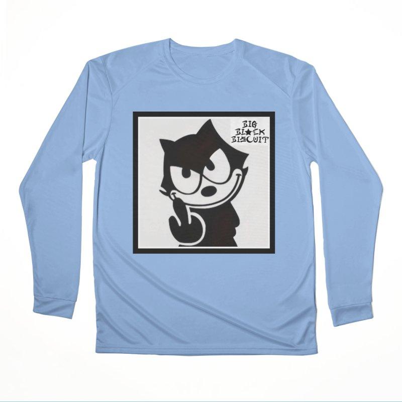 Roguish  Feline Men's Longsleeve T-Shirt by BigBlackBiscuit's Artist Shop