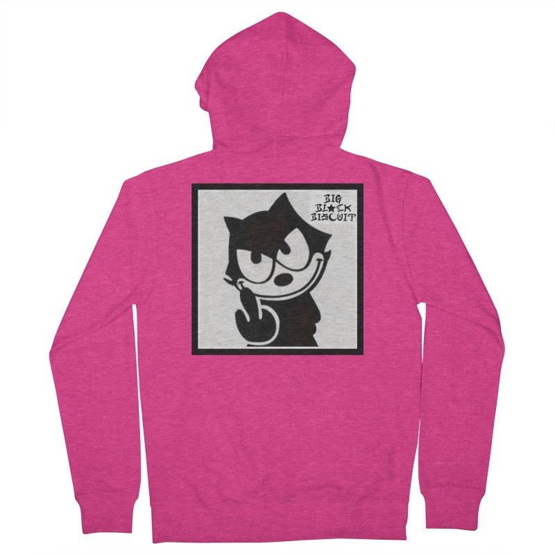 Roguish  Feline Women's Zip-Up Hoody by BigBlackBiscuit's Artist Shop