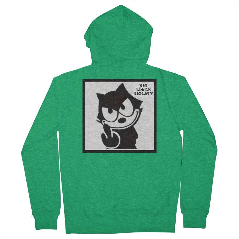 Roguish  Feline Men's Zip-Up Hoody by BigBlackBiscuit's Artist Shop