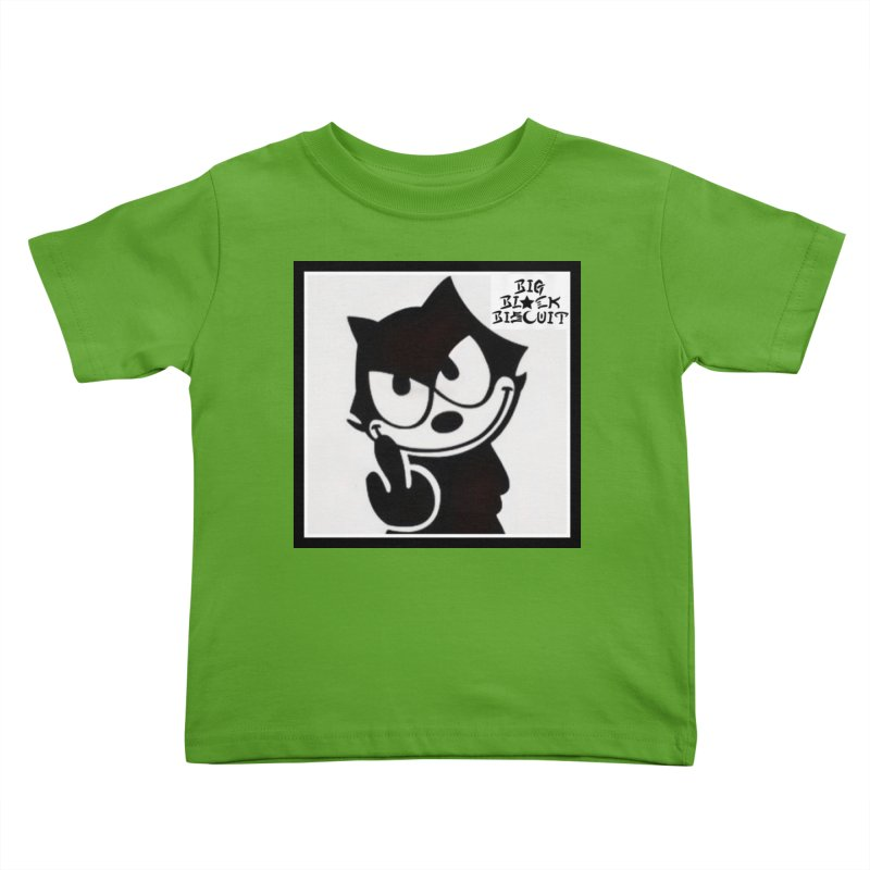 Roguish  Feline Kids Toddler T-Shirt by BigBlackBiscuit's Artist Shop