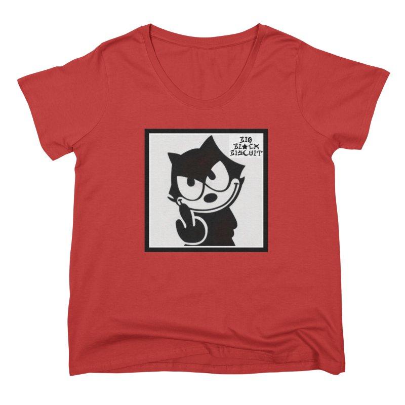 Roguish  Feline Women's Scoop Neck by BigBlackBiscuit's Artist Shop