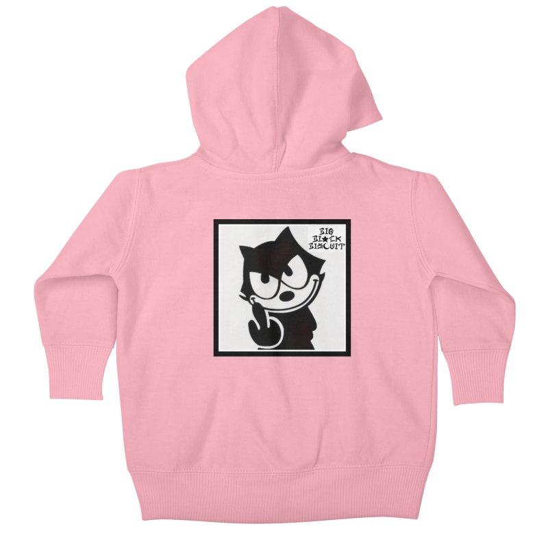 Roguish  Feline Kids Baby Zip-Up Hoody by BigBlackBiscuit's Artist Shop