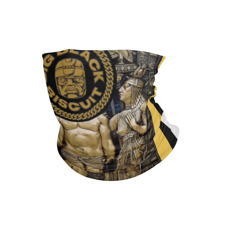 Stone Face Accessories Neck Gaiter by BigBlackBiscuit's Artist Shop