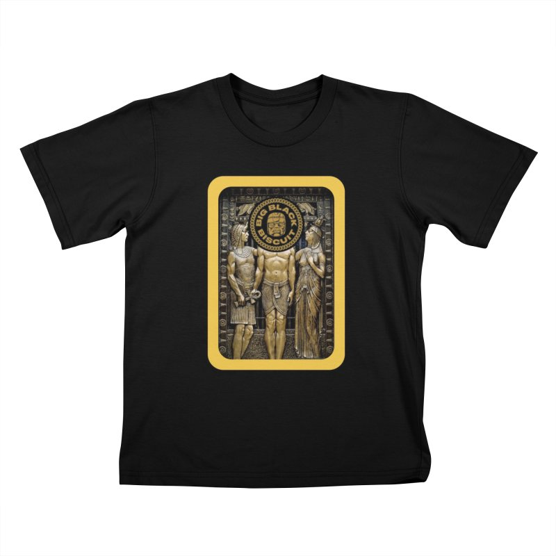Stone Face Kids T-Shirt by BigBlackBiscuit's Artist Shop