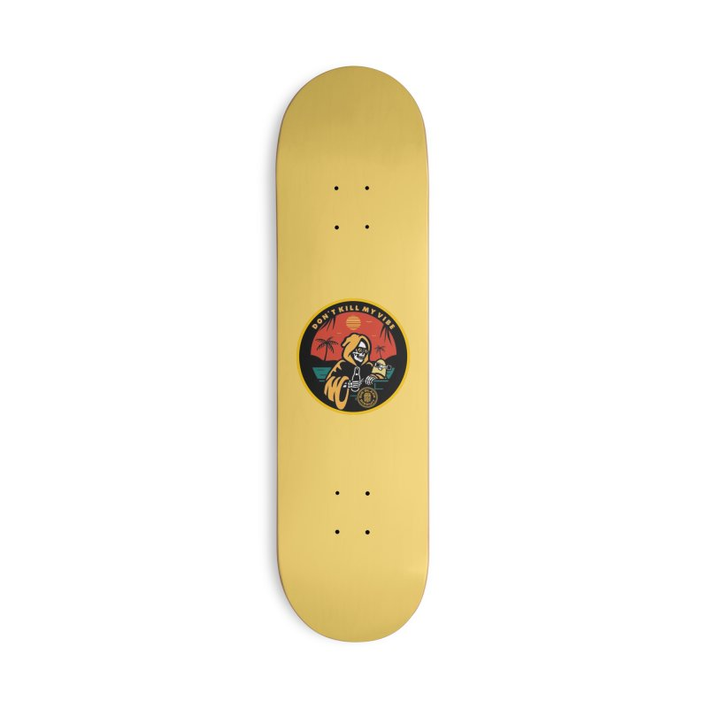 The VIBES Accessories Skateboard by BigBlackBiscuit's Artist Shop