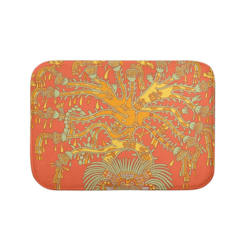 Teotihuacan Tree Home Bath Mat by Big Red Hair's Artist Shop