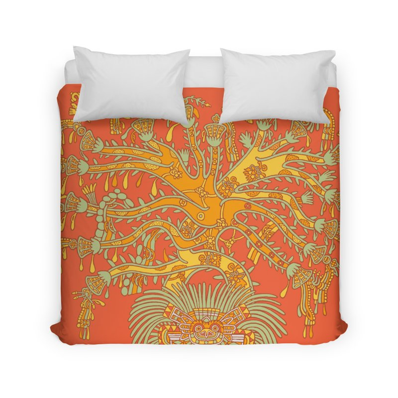 Teotihuacan Tree Home Duvet by Big Red Hair's Artist Shop