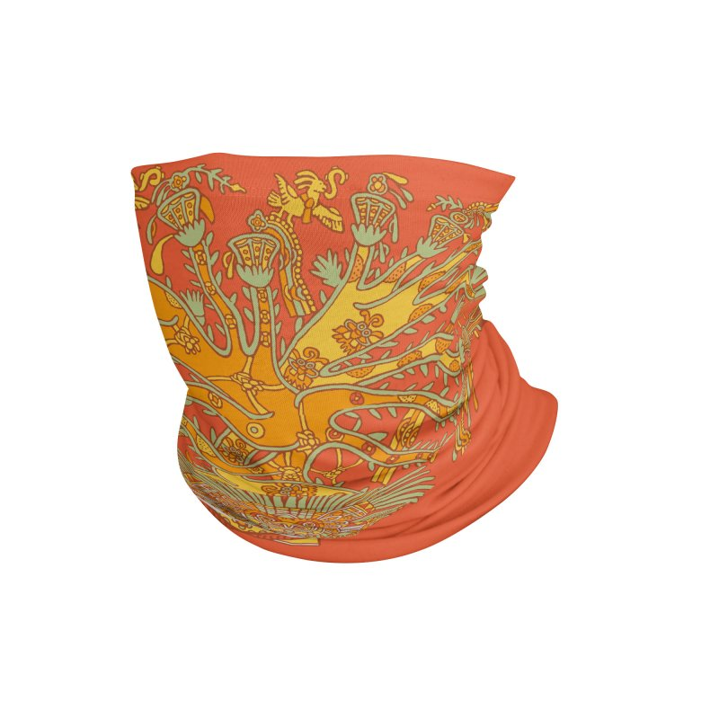 Teotihuacan Tree Accessories Neck Gaiter by Big Red Hair's Artist Shop