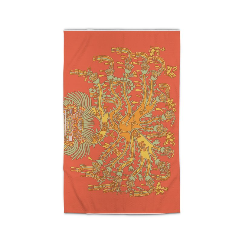 Teotihuacan Tree Home Rug by Big Red Hair's Artist Shop