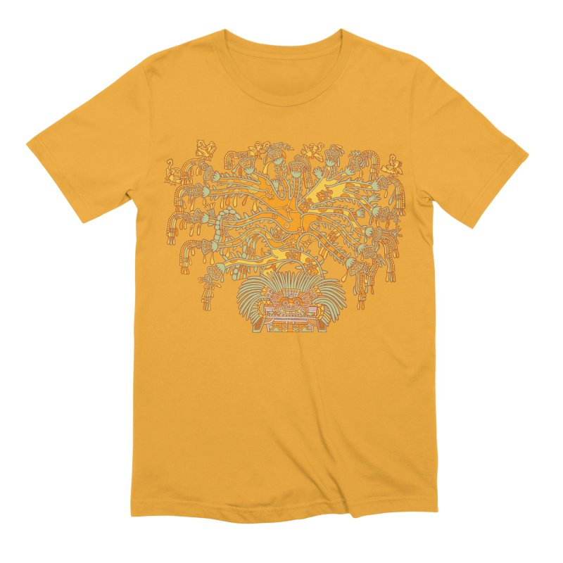 Teotihuacan Tree Men's Extra Soft T-Shirt by Big Red Hair's Artist Shop