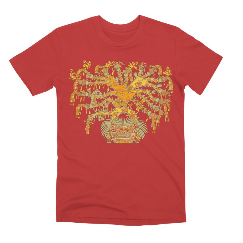 Teotihuacan Tree Men's T-Shirt by Big Red Hair's Artist Shop