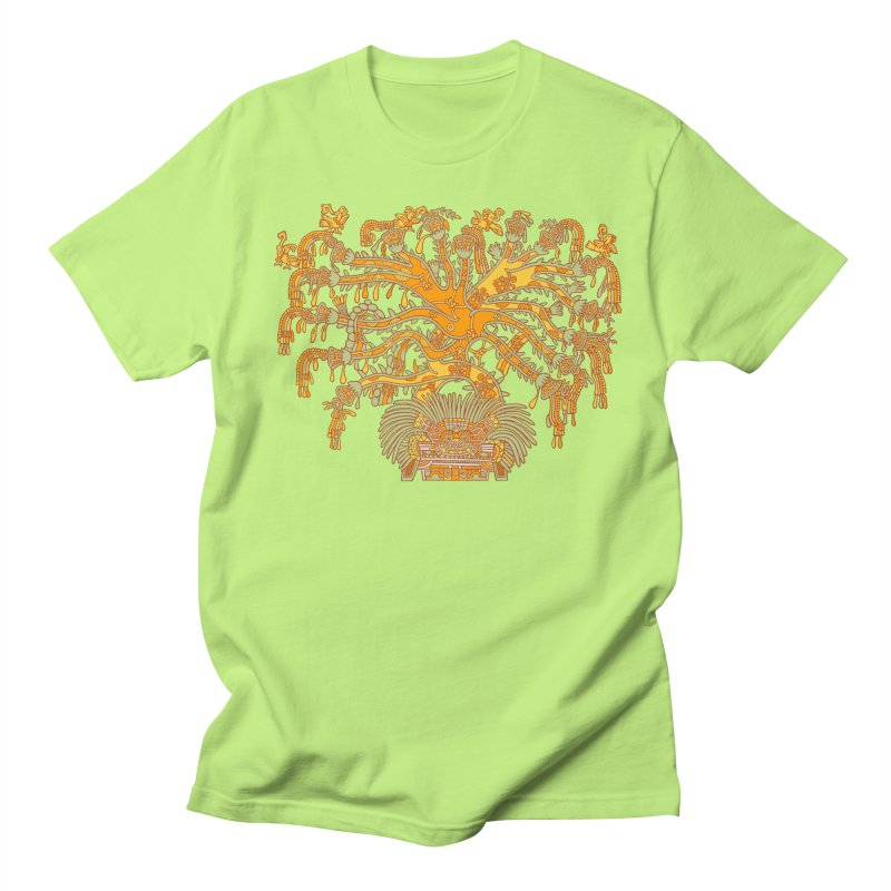 Teotihuacan Tree Men's Regular T-Shirt by Big Red Hair's Artist Shop