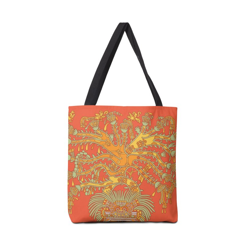 Teotihuacan Tree Accessories Bag by Big Red Hair's Artist Shop