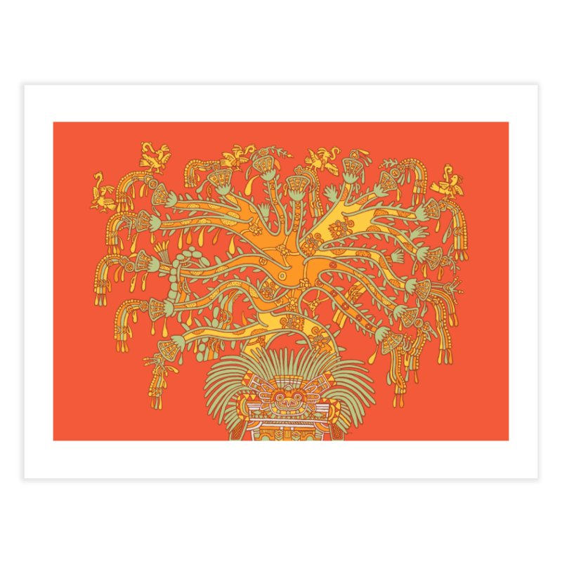 Teotihuacan Tree Home Fine Art Print by Big Red Hair's Artist Shop