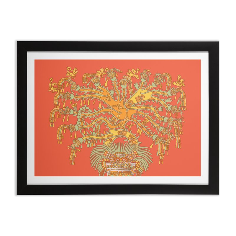 Teotihuacan Tree Home Framed Fine Art Print by Big Red Hair's Artist Shop